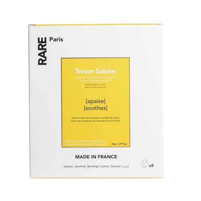 Успокаивающая Тканевая Маска Rare Paris Trésor Solaire Soothing Face Mask Box 5 шт