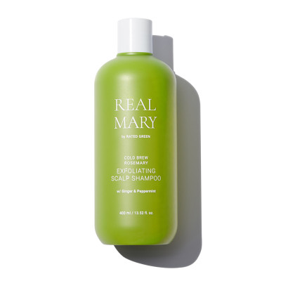 Глубоко Очищающий Шампунь с Соком Розмарина Rated Green Real Mary Exfoliating Scalp Shampoo 400 мл