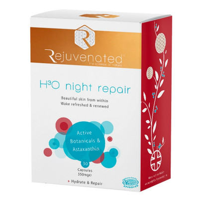 Активные Капсулы для Ночного Восстановления и Увлажнения Кожи Rejuvenated Collagen H3O Night Repair 30 капсул x 550 мг