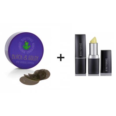 Акционный Комплект Патчи под Глаза с Коллоидным Золотом Beautydrugs 60 шт + Скраб для Губ Beautydrugs 4 г