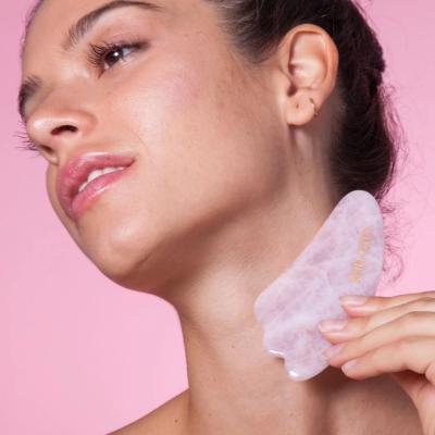 Скребок Гуаша из Розового Кварца в Форме Короны Skin Gym Rose Quartz Sculpty Guasha Claw