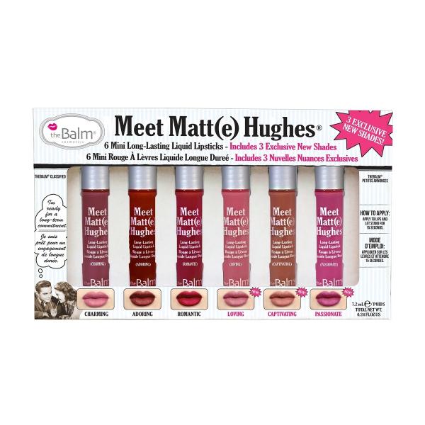 Набор Жидких Матовых Помад theBalm Meet Matte Hughes Mini Set vol.3