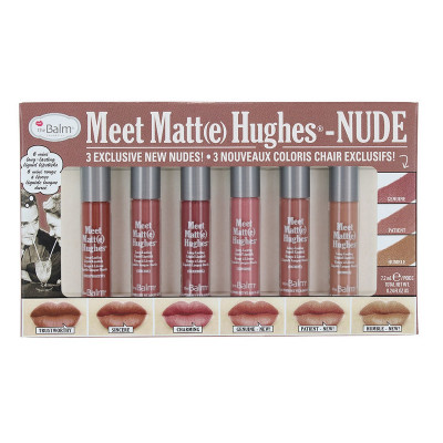 Набор Жидких Матовых Помад theBalm Meet Matte Hughes Nude 6-pc Mini Kit 6x1.2 мл