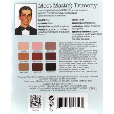 Палетка Теней theBalm Palettes Meet Matte Trimony® - 9 теней 21.6 г