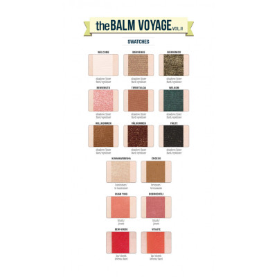 Палетка Теней theBalm Voyage® Vol.2 Face Palette 21.1 г