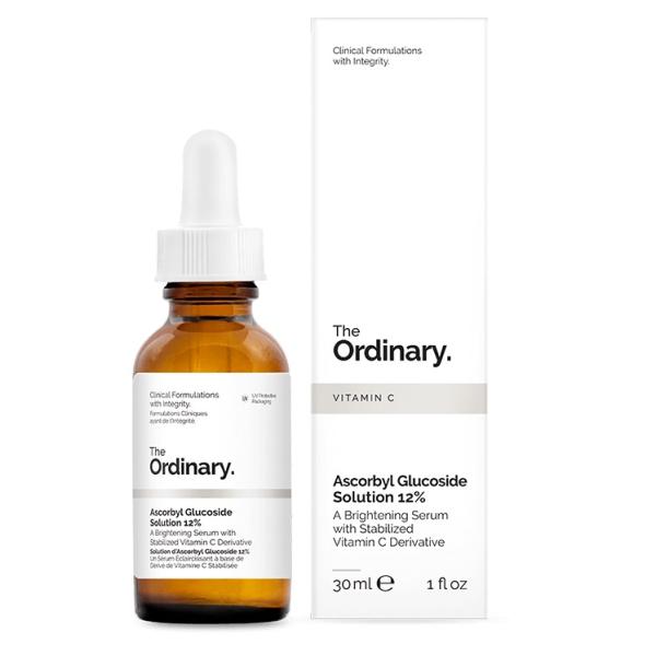 Водная Сыворотка 12% Витамин С The Ordinary 12% Ascorbyl Ascorbyl Glucoside Solution 30 мл