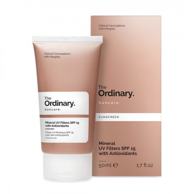 Солнцезащитный Крем с Антиоксидантами SPF 15 The Ordinary Mineral UV Filters with Antioxidants 50 мл