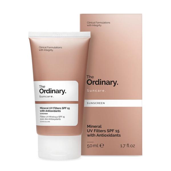 Солнцезащитный Крем с Антиоксидантами SPF 15 The Ordinary Mineral UV Filters with Antioxidants 50 мл