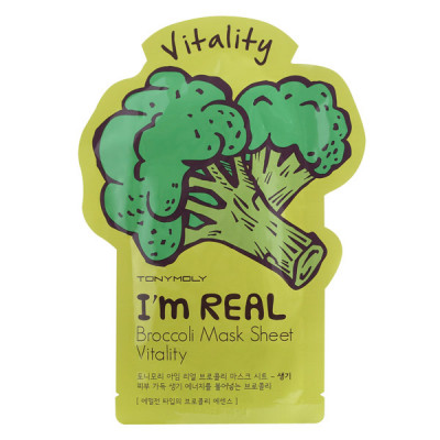 Тканевая Маска Tony Moly с Экстрактом Брокколи I'm Real Broccoli Mask Sheet 21 мл