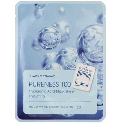 Тканевая Маска Tony Moly с Гиалуроновой Кислотой Pureness 100 Hyaluronic Acid Mask Sheet Elasticity 21 мл