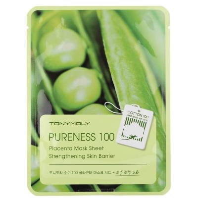 Тканевая Маска Tony Moly с Экстрактом Растительной Плаценты Pureness 100 Placenta Mask Sheet Elasticity 21 мл