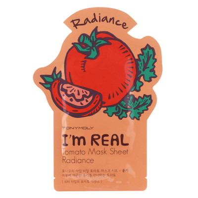 Тканевая Маска Tony Moly с Экстрактом Томата I'm REAL Mask Tomato Sheet 21 мл