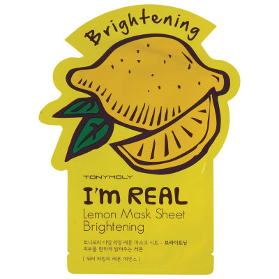 Тканевая Маска Tony Moly с Экстрактом Лимона I'm REAL Lemon Mask Sheet 21 мл