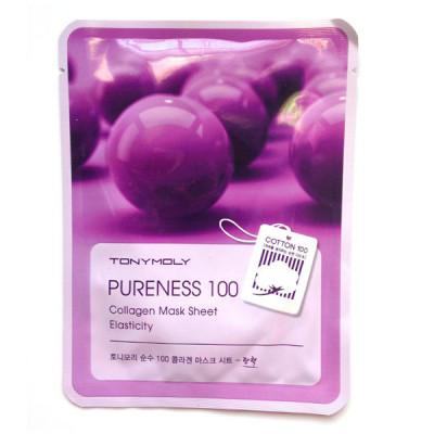 Тканевая Маска Tony Moly с Экстрактом Коллагена Pureness 100 Collagen Mask Sheet Elasticity 21 мл