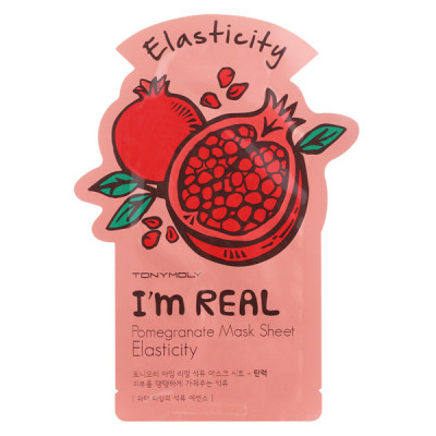 Тканевая Маска Tony Moly с Экстрактом Граната I'm REAL Pomegranate Mask Sheet Elasticity 21 мл