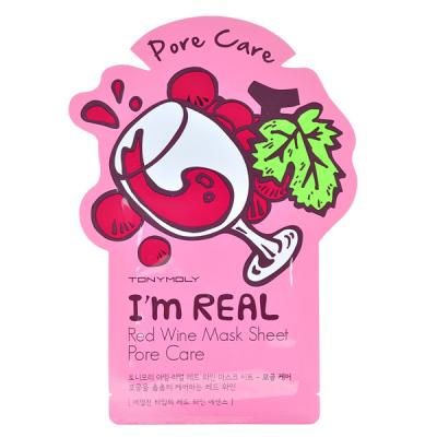 Тканевая Маска Tony Moly с Экстрактом Красного Вина I'm Real Red Wine Mask Sheet 21 мл