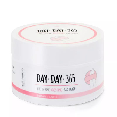 Очищающие Пилинг-Спонжи c Кислотами Wish Formula Day Day 365 All in One Boosting Pad Mask 120 мл