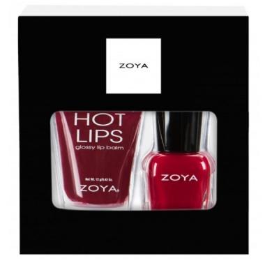 Подарочный Набор Блеск для губ и Мини-лак для ногтей ZOYA Be Jolly