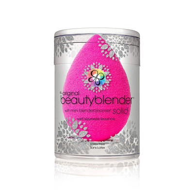 Спонж Beautyblender® original + Мини Мыло mini blendercleanser solid holiday