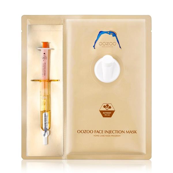 Маска с Пантенолом для Интенсивного Питания в Одноразовой Упаковке The OOZOO Face Injection Mask Nutrient 1 шт