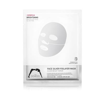 Серебряная Фольга 3-х Слойные Экспресс-Маски с Термоэффектом с Фуллереном THE OOZOO Face silver foilayer mask (1 шт.)