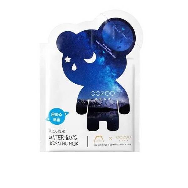 Маска для Глубокого Увлажнения Мишка УЗУ Млечный путь Двухфазная в Одноразовой Упаковке The OOZOO Bear Water-bang Hydrating Mask