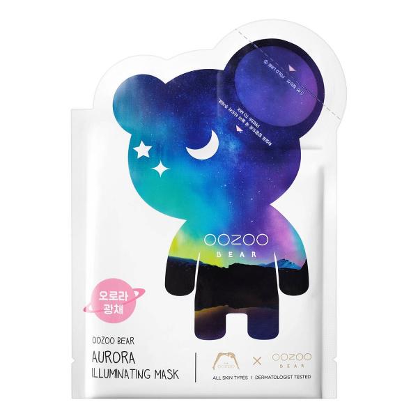 Тканевая Маска для Сияния Кожи Лица, Мишка Северное Сияние The OOZOO Bear Aurora Illuminating Mask (1 шт.)