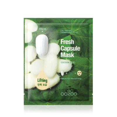 Маска с Капсулой-Активатором с Экстрактом Шелка для Лифтинга и Увлажнения THE OOZOO Fresh Capsule Mask Cocoon Silk (1 шт.)