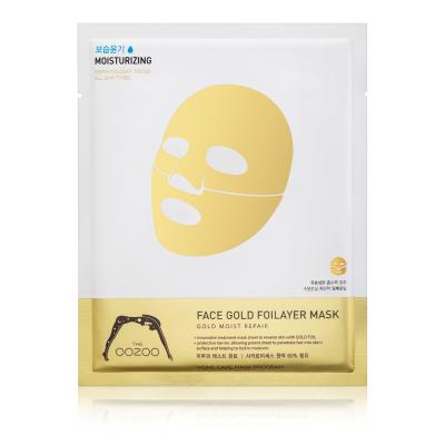 Золотая Фольга 3х-Слойная Экспресс-Маска с Термоэффектом с Аквапорином в Одноразовой Упаковке  THE OOZOO Face gold foilayer mask (1 шт.)