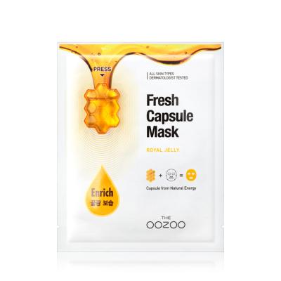 Маска с Капсулой-Активатором с Маточным Молочком для Сияния и Питания THE OOZOO Fresh Capsule Mask Royal Jelly (1 шт.)