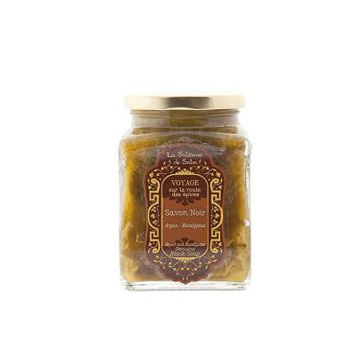 Чёрное Мыло с Эвкалиптом и Арганом La Sultane De Saba Black Soap With Argan Oil 300 мл