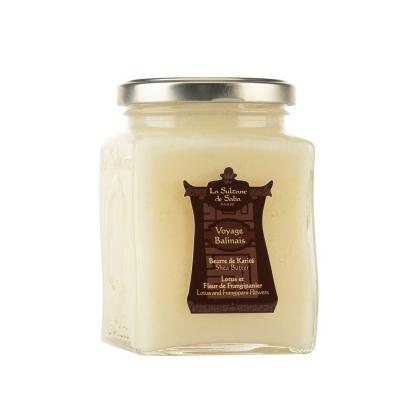 Масло Карите Лотос и Франжипани La Sultane De Saba Shea Butter Lotus And Frangipani Flowers 300 мл