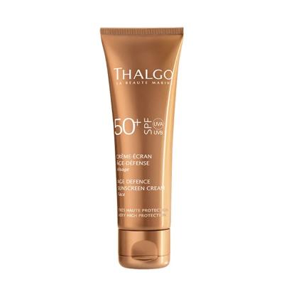 Антивозрастной Солнцезащитный Крем для Лица Thalgo Age Defense Sunscreen Face Cream SPF 50+ 50 мл